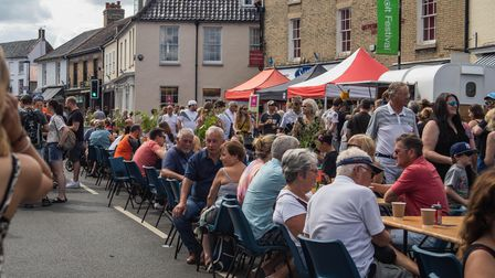 People enjoy a Holt Street Fest event in July 2019