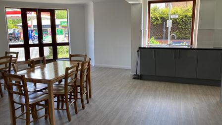 A communal area in the Ryedale centre, which has been converted into studio flats for 18 former rough sleepers.