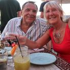 Ian Rogerson and his wife Jacqui celebrating the Comet's 50th anniversary from their home in Spain