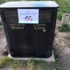 Bins have been sealed up in an attempt to reduce the rats food supply on Therfield Heath.