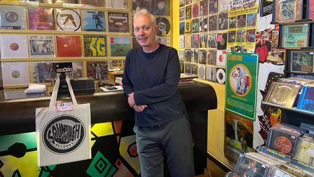 Paul Mills, owner of Soundclash Records on St Benedicts Street, Norwich.