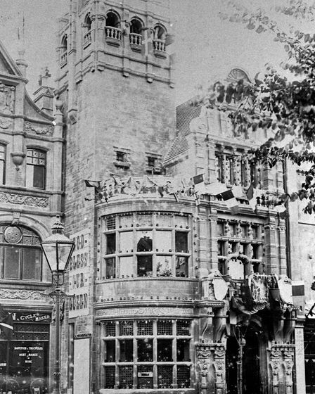 The Weston Mecury building won first prize in the towns 1897 Jubilee illuminations.