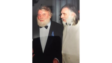 Businessman with Brian Blessed