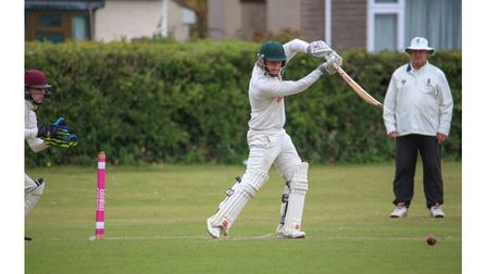 Congresbury's Lloyd Richardson in action against North Perrott
