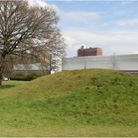One of the Six Hills Roman burial mounds on Six Hills Way in Stevenage