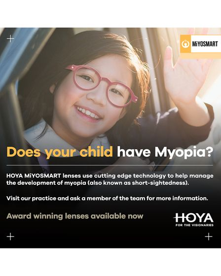 Symptoms of myopia in your child from The Eye Place in Bakewell