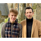 Both artists at Sidmouth December 2020.