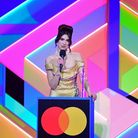 Dua Lipa accepts the award for Best Female Solo Artist during the Brit Awards 2021