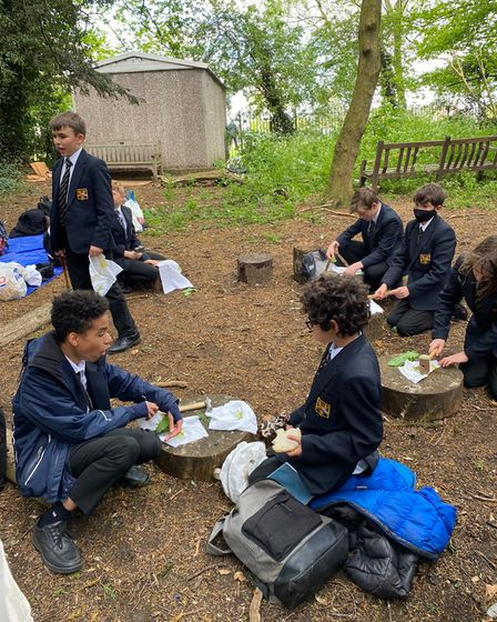 Hitchin Boys' School have hosted for Mental Health Awareness Week 2021 includeJapanese-inspired Hapa Zome painting