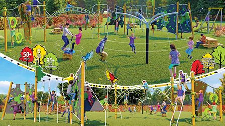 Designs for the new play park at Rothamsted in Harpenden.