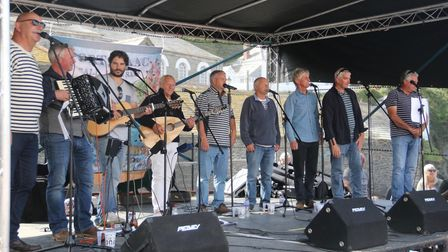 Fisherman's Friends performing at Port Isaac Shanty Festival