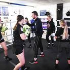 A boxing class in London