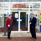 North Devon MP at a recent visit to the Petroc Campus