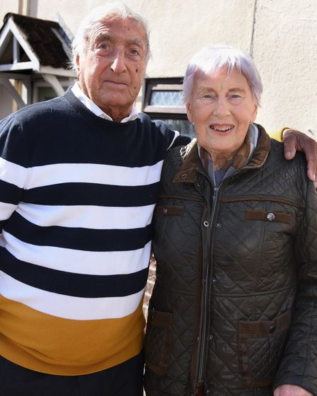 Jack, 90, and Betty Smith, 88, at Caister on Sea. Picture: DENISE BRADLEY