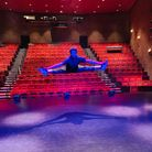 Callum Balmforth, a second year Redbridge Drama and Dance Course student, in the renovated Kenneth More Theatre.