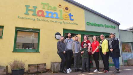 Staff at The Hamlet Centre in Norwich which helps children and adults with learning difficulties.