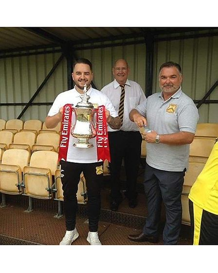 Shaun Potter led Cheddar to their first ever FA Cup win