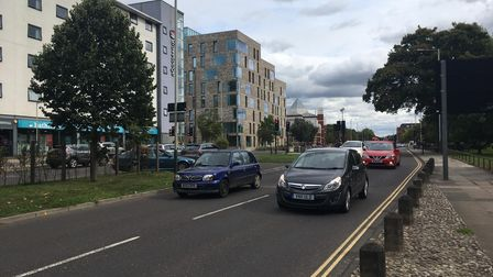 Queens Road, which will be closed for resurfacing work. Pic: Dan Grimmer