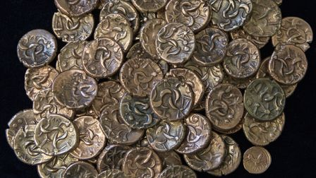 Coins from the Kimbolton Treasure Hoard will be on show at the St Neots Museum.