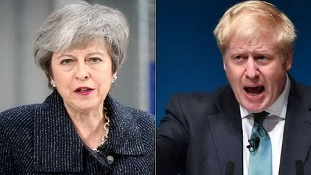 Former prime minister Theresa May (L) and Boris Johnson (R) have been accused of plunging Westminste