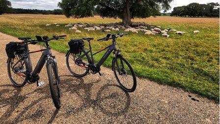 Out and about on an e-bike