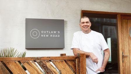 Nathan Outlaw outside his restaurant