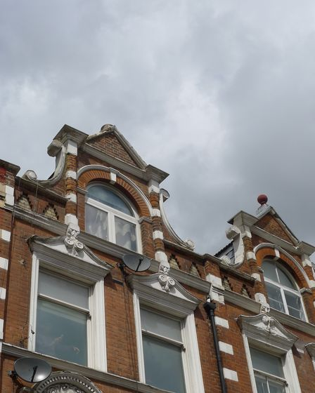 The roof above Crouch End's Beam, from where masonry fell on May 12
