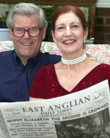 DAVID AND GLORIA HENSHALL WHO CELEBRATE THEIR GOLDEN WEDDING THIS JUBILEE YEAR WITH A 50 YEAR OLD CO