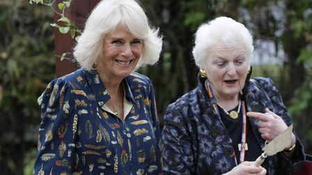 The Duchess of Cornwall (left) with Baroness Julia Neuberger, who chairs Whittington Health NHS Trust