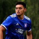 Andre Dozzell in recent pre-season action for Ipswich against Paderborn Picture: ROSS HALLS