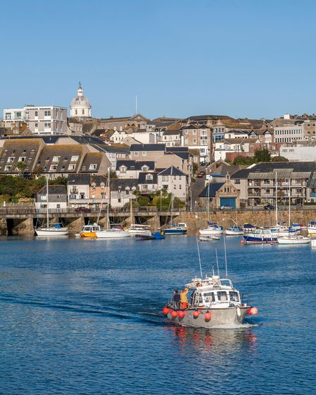 penzance harbour and sea front; cornwall