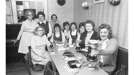 The Brickmakers Arms darts team in 1974
