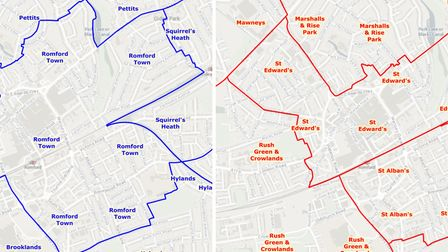 Romford Town ward changes