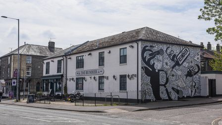 The mural on the side of The Reindeer pub on Dereham Road in Norwich. Picture: Danielle Booden