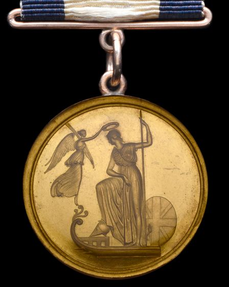 The obverse of the medal awarded to Captain Sir William Hoste