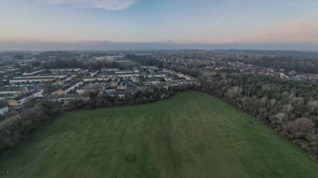 An aerial view of Chells Park, Stevenage