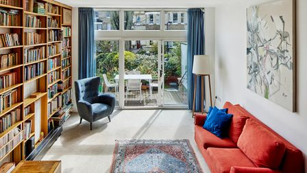 Interior scheme of a Hampstead townhouse designed in the 60s.
