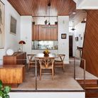 Interior of a mid-century townhouse in Hampstead