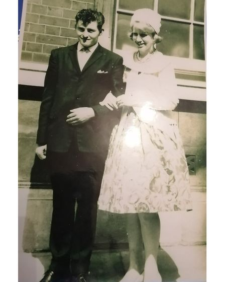 Brian and Maggie Dyer on their wedding day in Ipswich in 1961