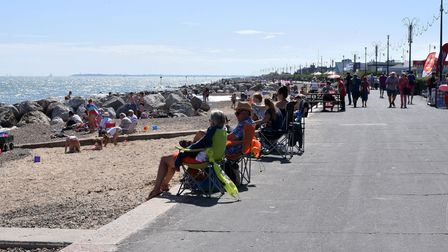 Felixstowe sea front is popular for those travelling to the coast from Ipswich and other inland towns