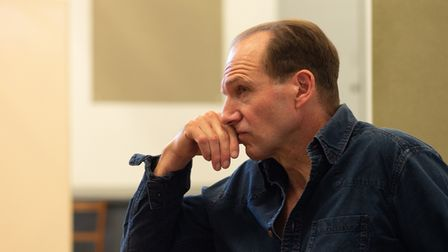 Ralph Fiennes in rehearsal for Four Quartets.