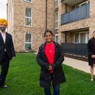 Opening of new council housing in Hainault