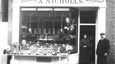 North Herts Museum features pictures from Hitchin's past, including A Nicholls Fruiterer and Floristry