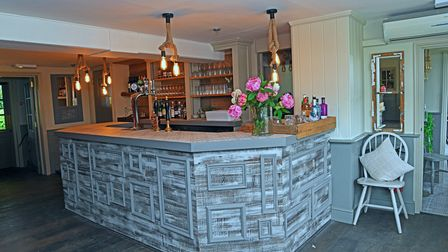 The new bar area in The Windmill in Somersham