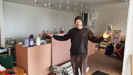 Joe Keating, one of the volunteers hoping to get Cricklewood Library's cafe finished