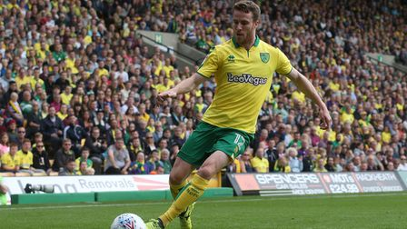 Marley Watkins of Norwich in action during the Sky Bet Championship match at Carrow Road, NorwichP