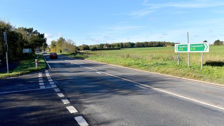 The A12 at Frostenden. Picture: Nick Butcher