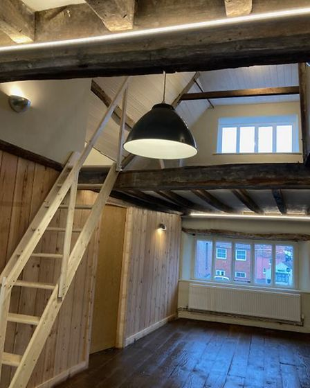 Inside the upstairs hall at The Shambles in North Walsham, following the recent renovation.