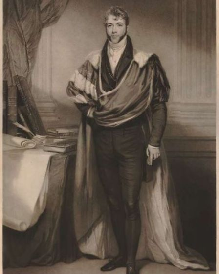 Edward Harbord, the3rd Baron Suffield, who builtAntingham and Southrepps Primary School. Portrait from 1831.