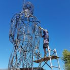 Welding the Pakefield Man.